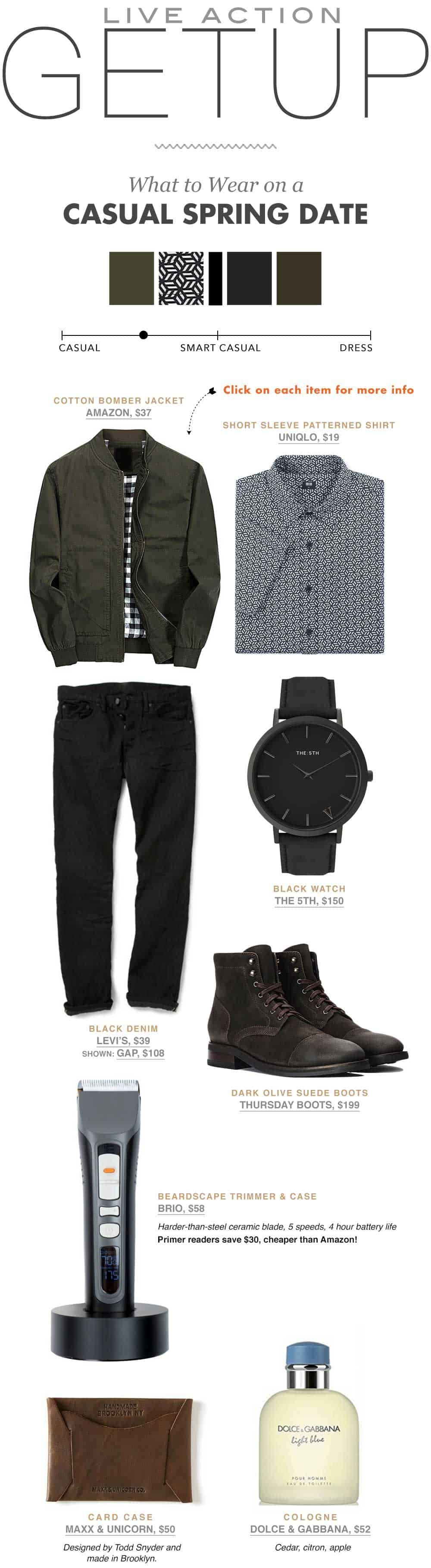 Spring Date - Casual Men's Fashion Inspiration - The Getup from Primer
