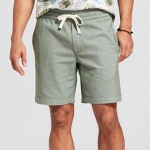 Green pull on shorts