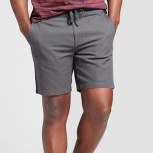 Gray drawstring shorts