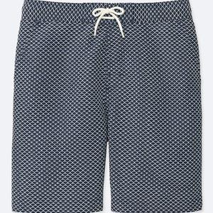 Dotted swim trunks