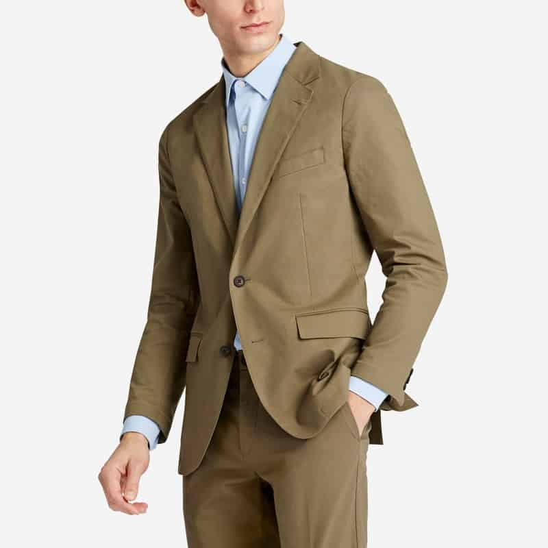 Image of man wearing Bonobos tech blazer