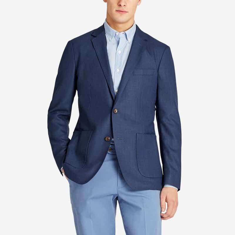 Image of man wearing Bonobos Italian wool blazer