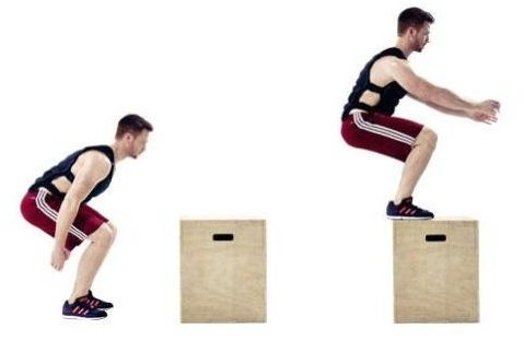 Image of man doing box jump exercise