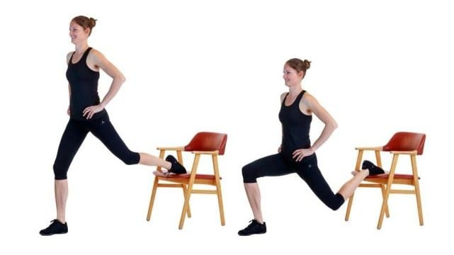 Image of woman doing Bulgarian split squat exercise