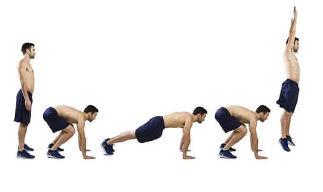 Image of man doing burpees exercise