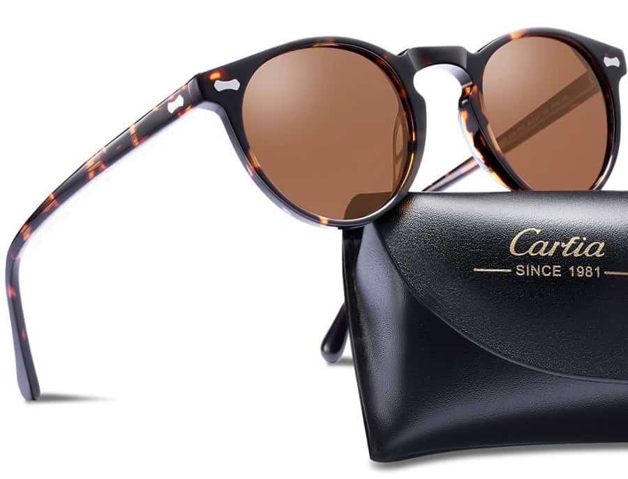 Image of Carfia vintage round sunglasses