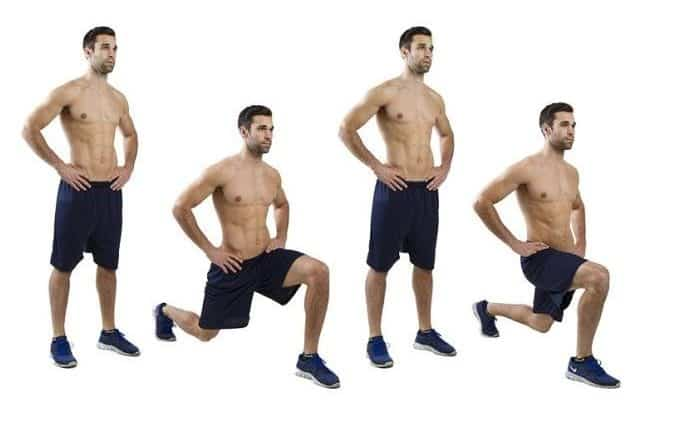 Image of man doing forward lunge exercise