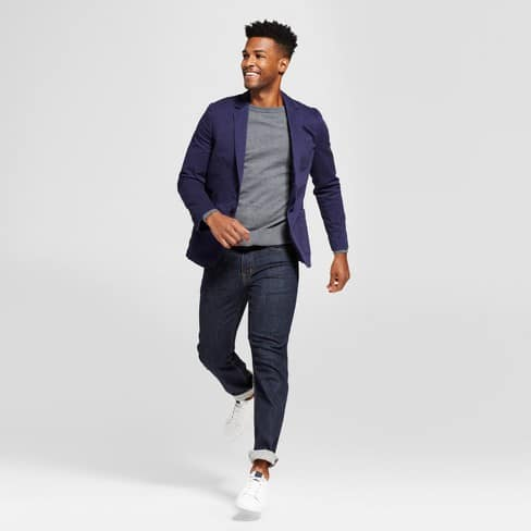 Image of man wearing Goodfellow & Co. chino blazer