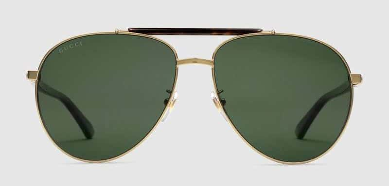 Image of Gucci aviator metal sunglasses