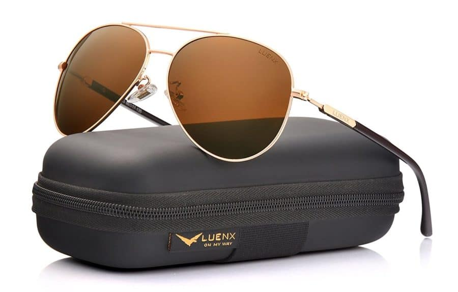 Image of LUENX mens aviator sunglasses