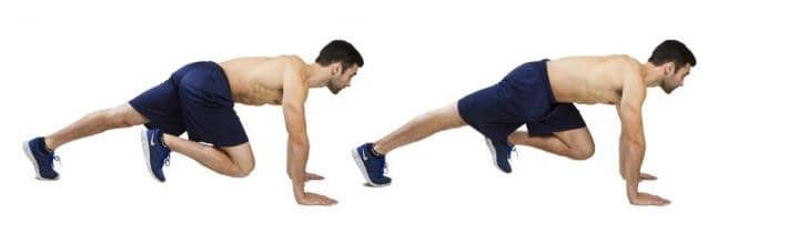 Image of man doing mountain climber exercise