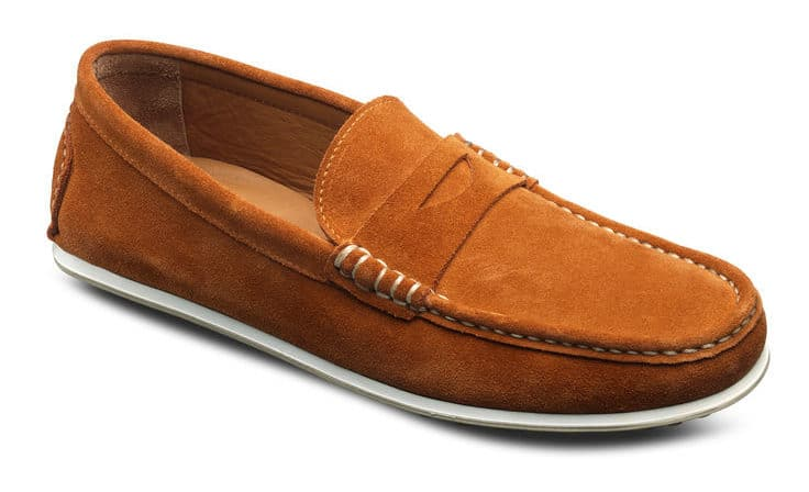 Image of Allen Edmonds turner suede penny loafer