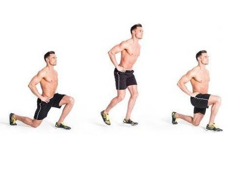 Image of man doing walking lunges exercise