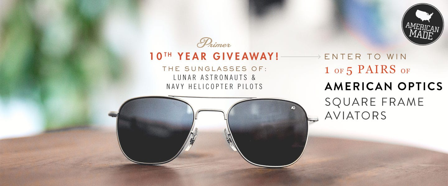 Enter to Win 1 of 5 Pairs of AO Square Frame Aviators for Primer\'s ...