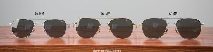 ao eyeswear sizes