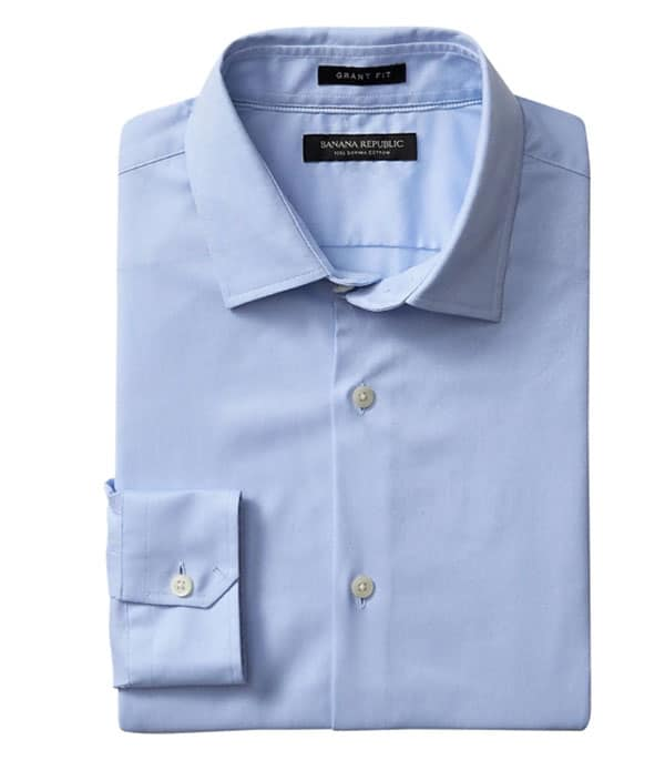 banana republic hot weather supima dress shirt