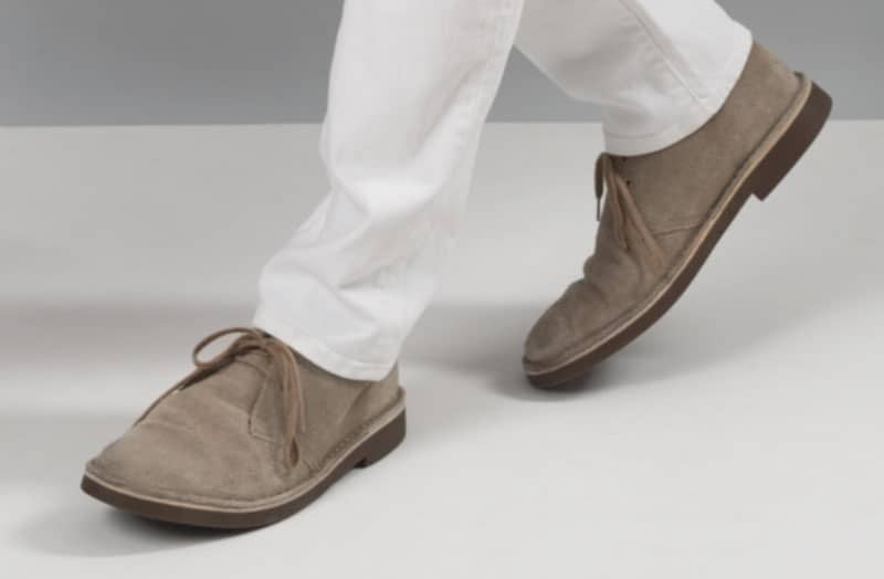 clarks bushacre 2 with white jeans