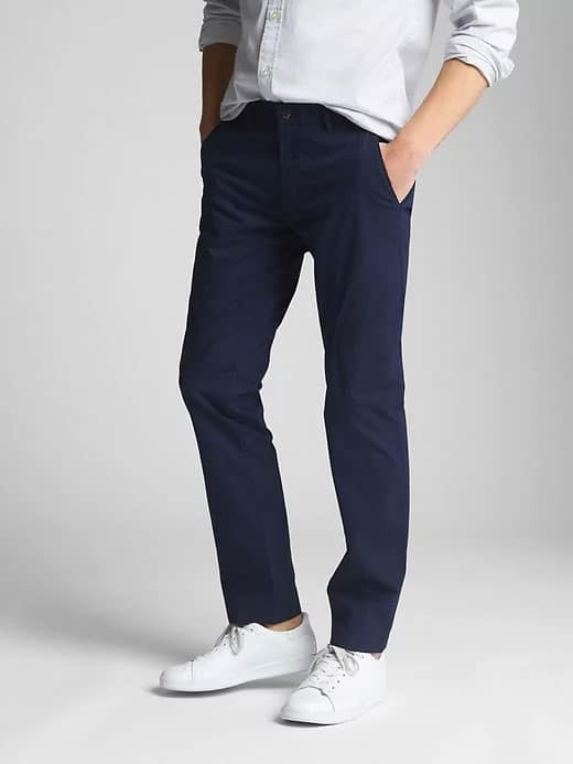 gap wearlight khakis