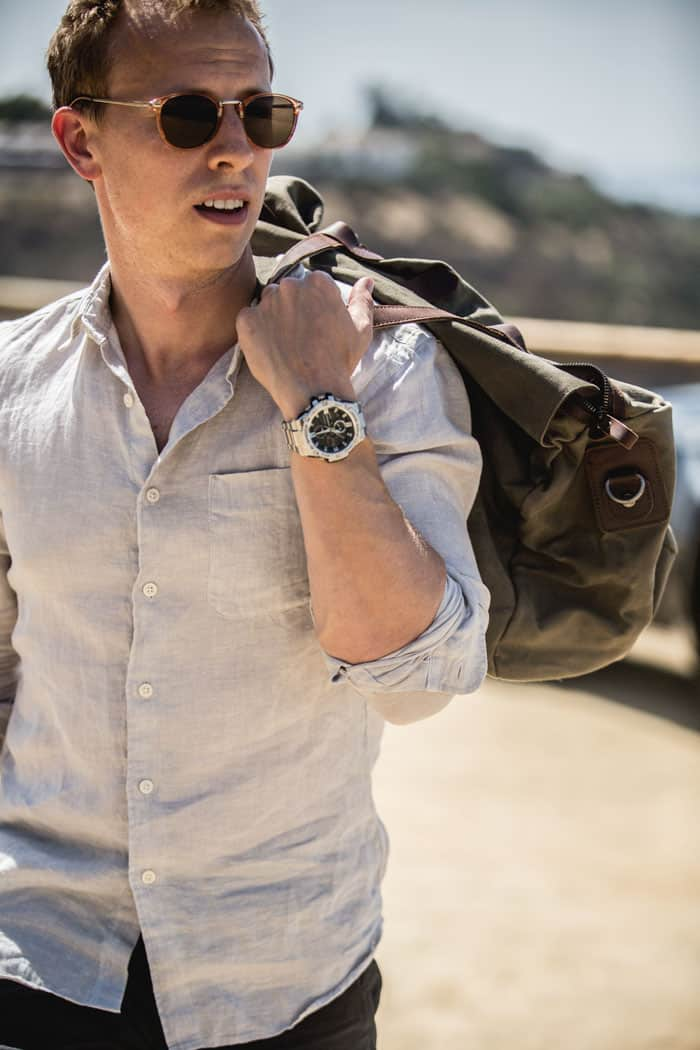 men's summer style watch linen weekender