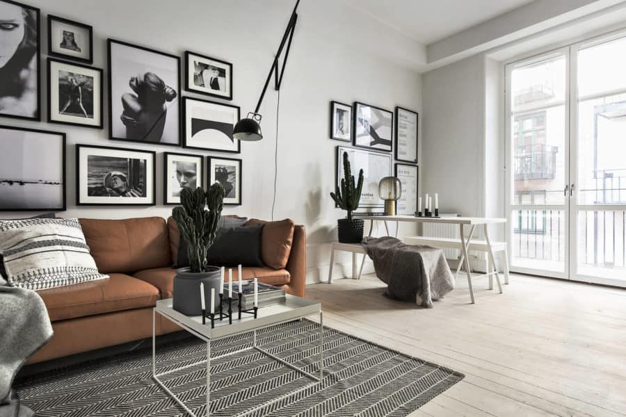 Image of warm toned Scandinavian interior