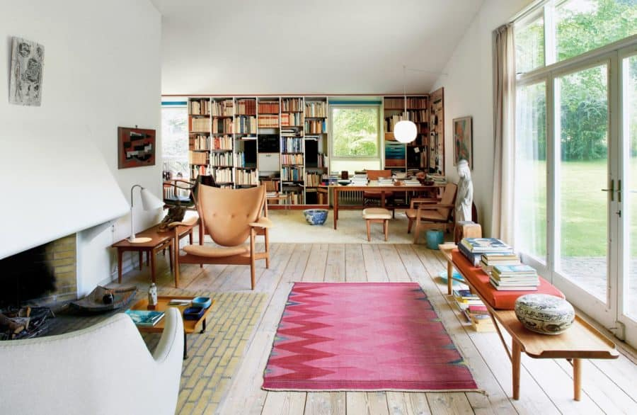 Image of Finn Juhl's living room design