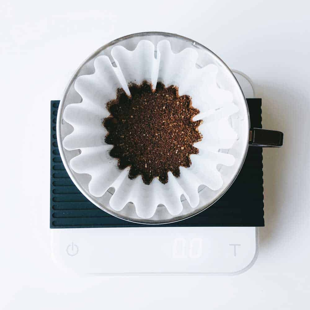 coffee grind size for pour over on scale