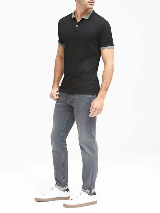 banana republic contrast polo