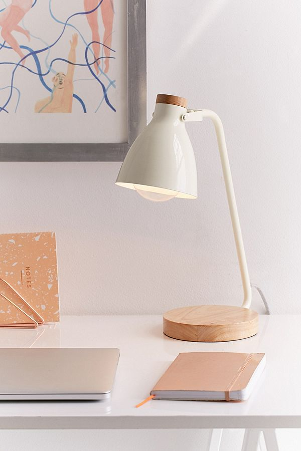 Image of white desk lamp