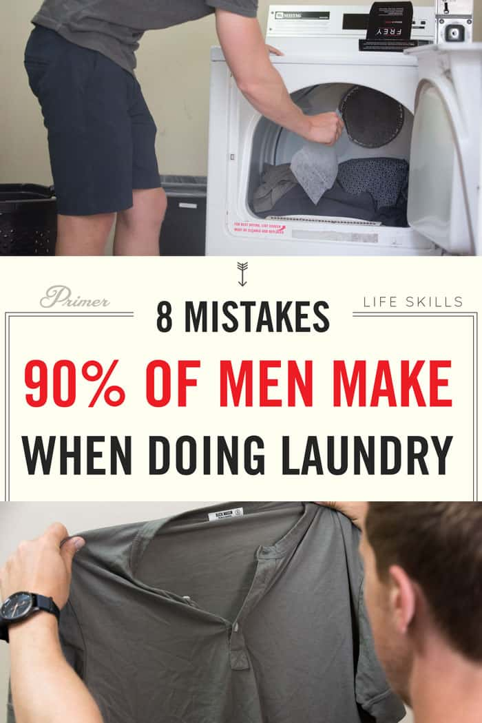 8 Mistakes 90% of men make when doing laundry