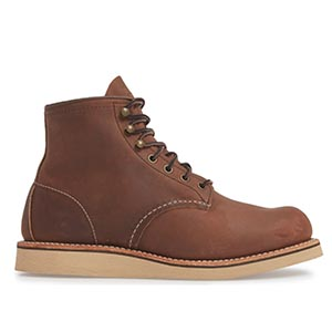 Brown wedge sole boots