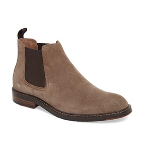 Tan suede chelsea boots