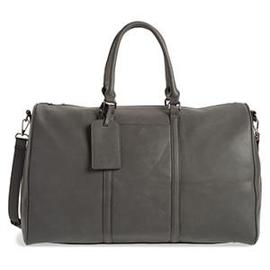 Gray luggage bag