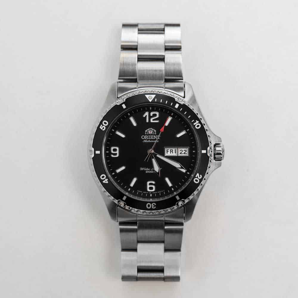 Orient watch with black face