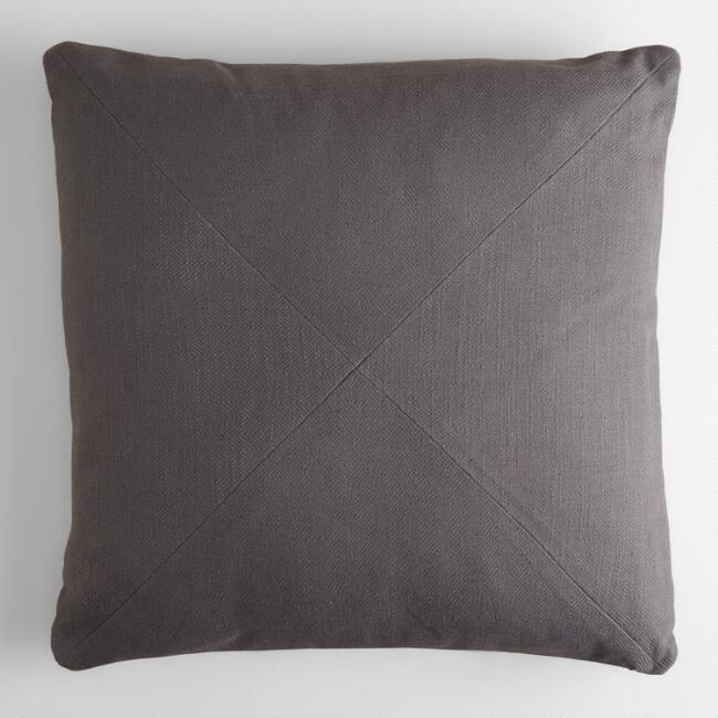 Image of grey throw pillow