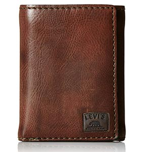 Brown levi\'s wallet