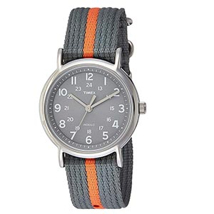 Gray timex watch