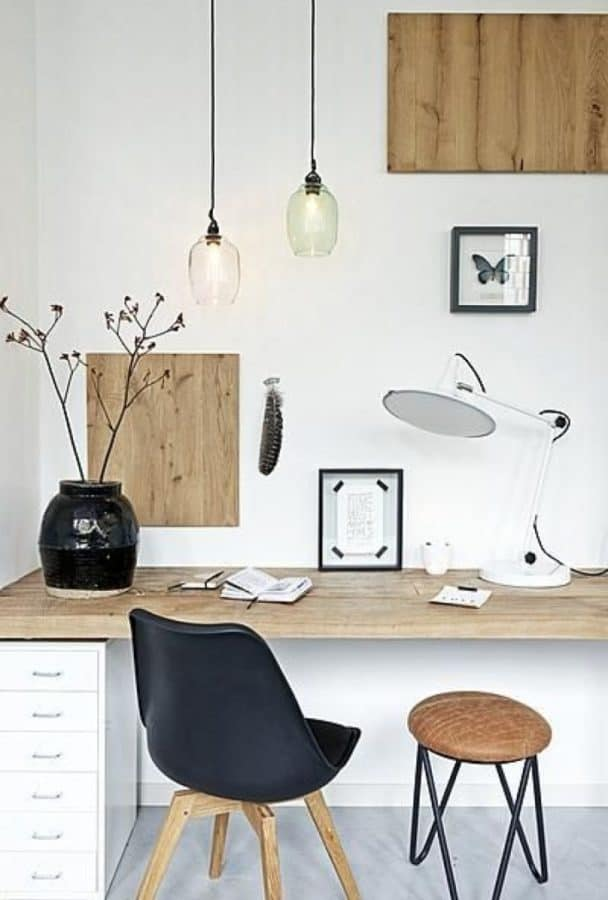 Image of a Scandinavian designed home office space