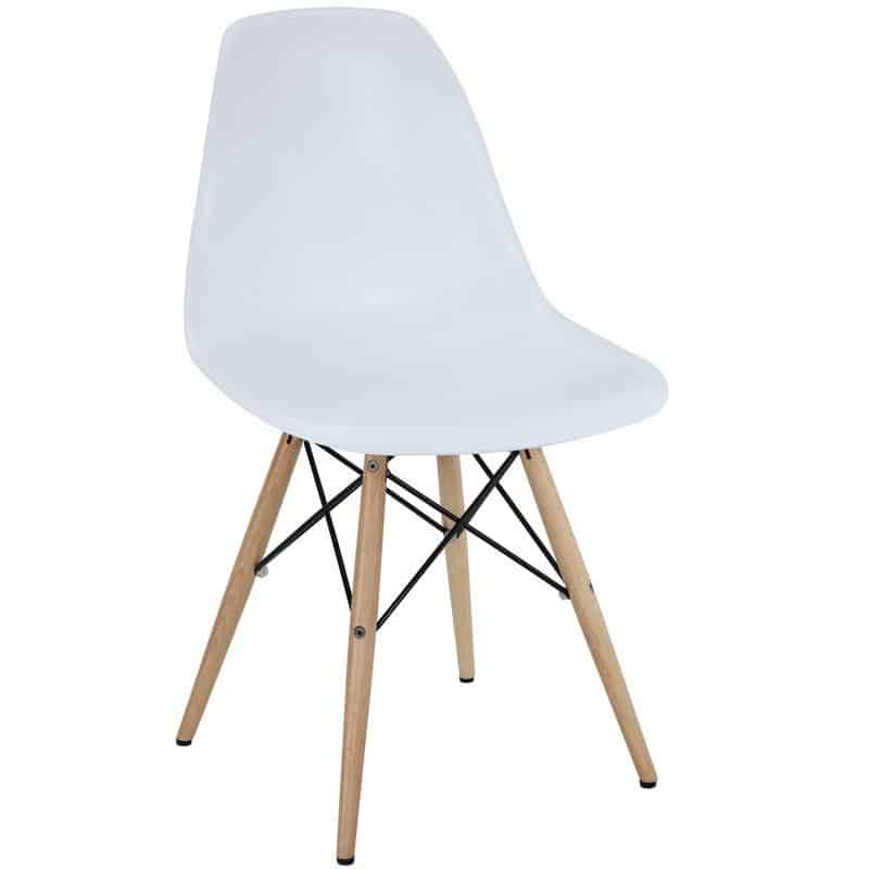 Image of side chair in white