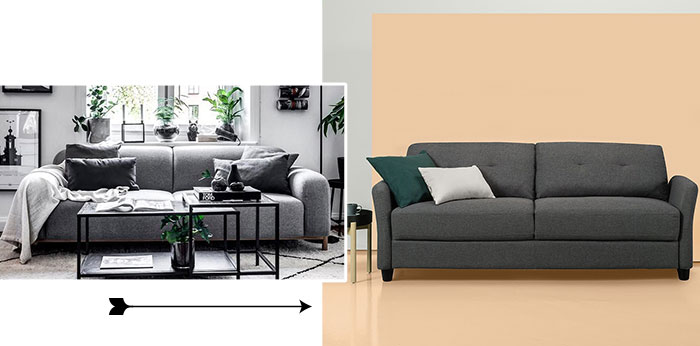 Image of Zinus contemporary upholstered couch