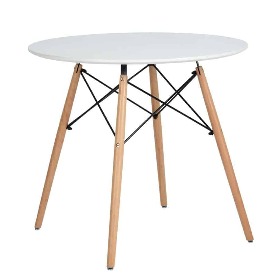 Image of white round coffee table