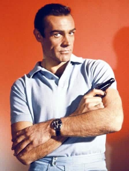 Sean Connery wearing a submariner dive watch