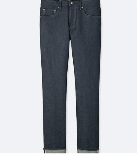 Image of men stretch selvedge slim fit jean