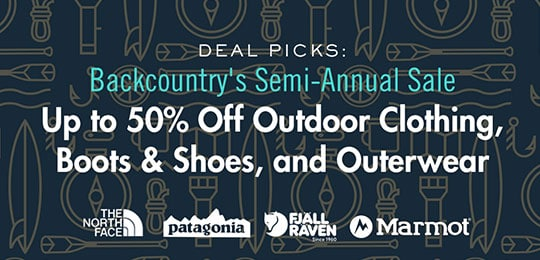 Backcountry's Semi-Annual Sale Deal Picks: Up to 50% Off Outdoor Clothing, Boots & Shoes, and Outerwear