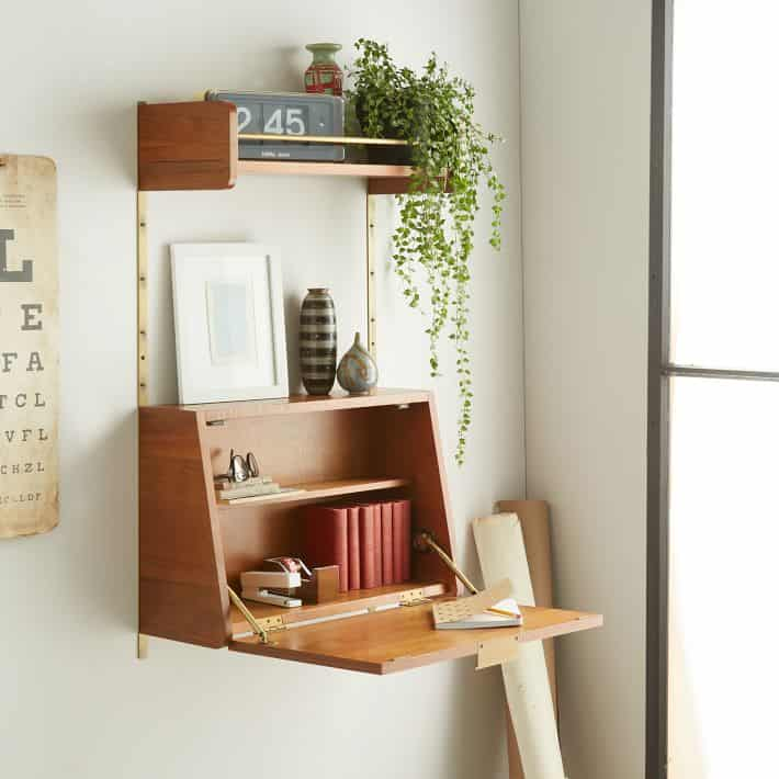 Image of fold down desk from West Elm