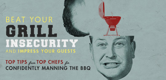 Grill insecurity, a mans head with a picture of a grill inside of it