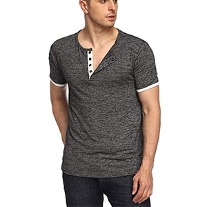 Image of mens HEQU regular fit henley shirt