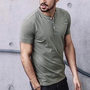Image of men's Vanca casual henley shirt