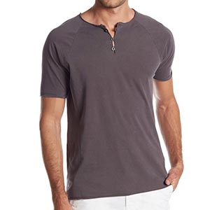Image of men's organic cotton henley