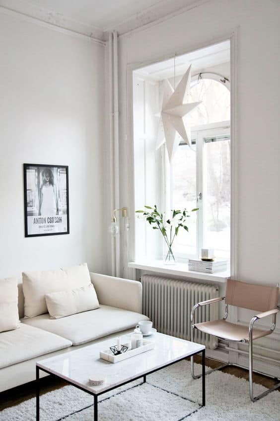 Image of white living room