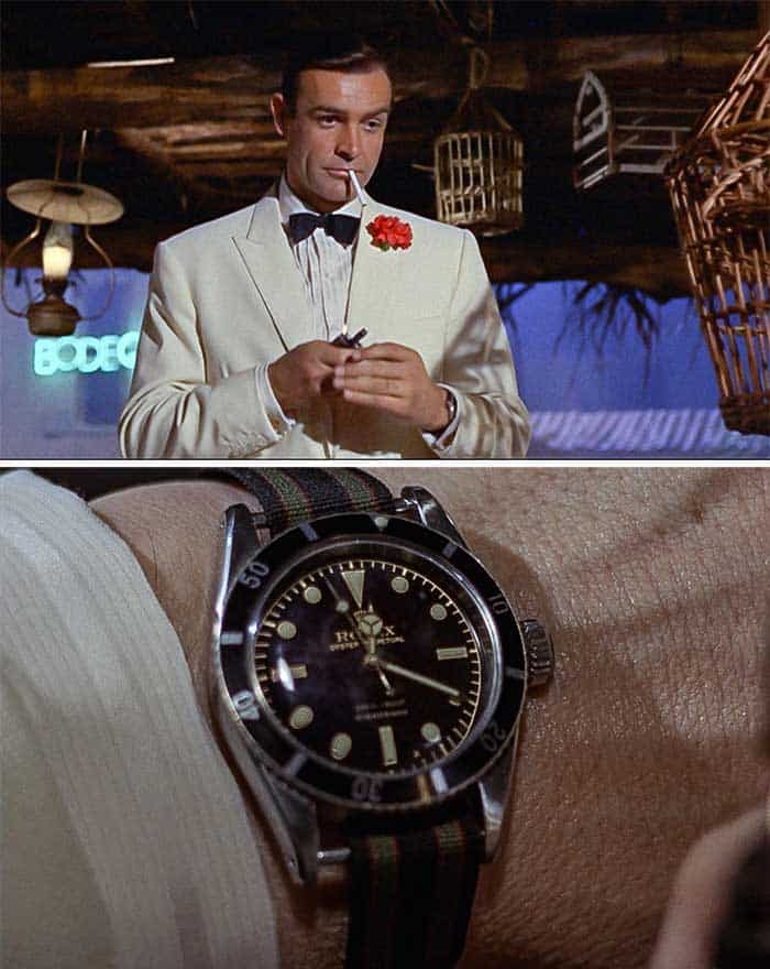 goldfinger rolex dive watch tuxedo